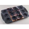 Szilikon fülű tapadásmentes 12 adagos muffin sütőforma