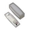 SLV-Big White MERIDIAN BOX kültéri IP54, E27 fali lámpatest mozgásérzékelővel, ezüstszürke, MERIDIAN - Big White SLV 230084