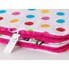 Pihe puha minky takaró - Pink-fehér apró pöttyös
