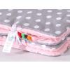 Pihe puha minky takaró - Rózsaszín-szürke pöttyös