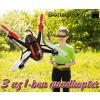 3 az 1-ben giroszkópos quadkopter drón, távirányítóval - FÖLDÖN, LEVEGŐBEN