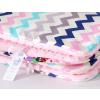 Pihe puha minky takaró -Rózsaszín cikk cakk