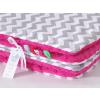 Pihe puha minky takaró -Pink szürke cikk cakk