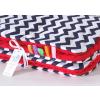 Pihe puha minky takaró - Piros, Sötétkék-fehér cikk cakk