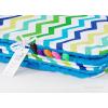 Pihe puha minky takaró -Kék, kék-zöld cikk cakk