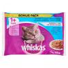 Whiskas Supreme alutasakos macskaeledel 4 x 100 g halas válogatás