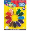 Colorino plastic, kavics formájú marokzsírkréta készlet, 12db-os