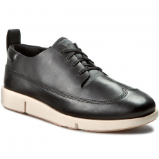 Clarks Félcipő CLARKS - Tri Nia 261187934 Black Leather