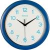 Secco Falióra, 30 cm,  kék keretes, kék számokkal, SECCO Sweep second (DFA029)