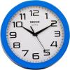 Secco Falióra, 25 cm, kék keretes, SECCO Sweep second (DFA032)