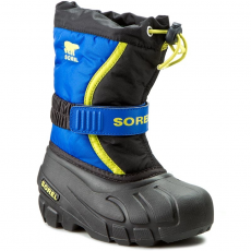 SOREL Hótaposó SOREL - Childrens Flurry NC1885-014 Black/Super Blue