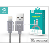 Devia Apple iPhone 5/5S/5C/SE/iPad 4/iPad Mini USB töltő- és adatkábel - 1,2 m-es vezetékkel (Apple MFI engedélyes) - Devia Fashion Cable Lightning - grey