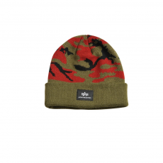 Alpha Industries X-Fit Camo Beanie - wood camo sapka