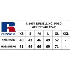 RUSSEL Karcsúsított fazonú, Russell Női póló, Green Marl