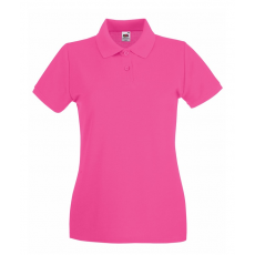 Fruit of the Loom Női premium piké polo, fuxia