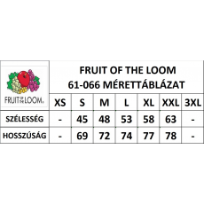 Fruit of the Loom FoL Valueweight V-nyakú póló, szürke
