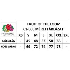 Fruit of the Loom FoL Valueweight V-nyakú póló, szürke