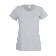 Fruit of the Loom Fit Valueweight Női kereknyaku póló, szürke női póló