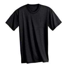 KEYA kereknyakú póló, fekete