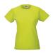 RUSSEL Női póló, hosszított, vékony fazonú, lime