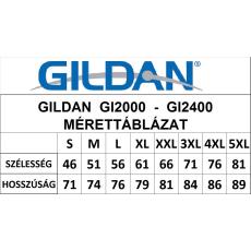 GILDAN ultra előmosott póló, sportszürke