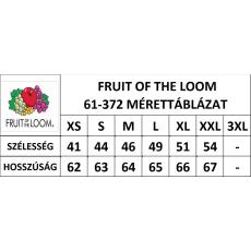 Fruit of the Loom Fit Valueweight Női kereknyaku póló, citromsárga
