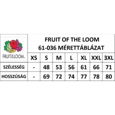Fruit of the Loom Rövid ujjú FoL Valueweight póló, középszürke