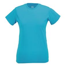 RUSSEL Női póló, hosszított, vékony fazonú, türkiz