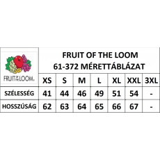 Fruit of the Loom Fit Valueweight Női kereknyaku póló, piros