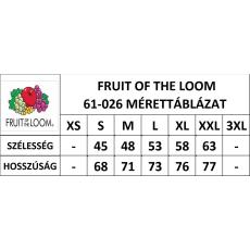 Fruit of the Loom Környakas rövid ujjú FRUIT OF THE LOOM póló, fehér-piros