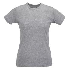 RUSSEL Női póló, hosszított, vékony fazonú, szürke