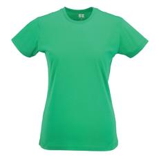 RUSSEL Női póló, hosszított, vékony fazonú, zöld