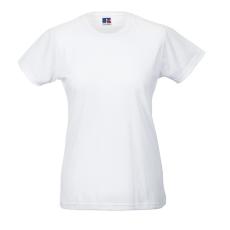 RUSSEL Női póló, hosszított, vékony fazonú, fehér
