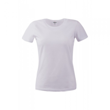 KEYA Női környakas pamut póló, fehér női póló