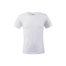 KEYA unisex környakas pamut póló, fehér