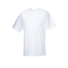 RUSSEL l környakas pamut póló, fehér