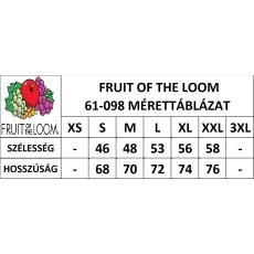 Fruit of the Loom Ujjatlan, sportos férfi póló, mélykék