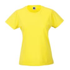 RUSSEL Női póló, hosszított, vékony fazonú, sárga női póló
