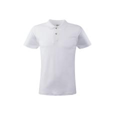KEYA férfi galléros piké póló, fehér
