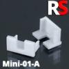 Alumínium RS profil eloxált (MINI-01-A) végzáró furattal