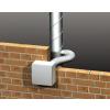 Vents VN-1D 80 KV H szellőzőrendszerbe építhető falon kívüli ventilátor