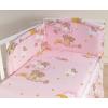 Babaágynemű garnitúra 3 részes huzat - Álmos mackók rózsaszín