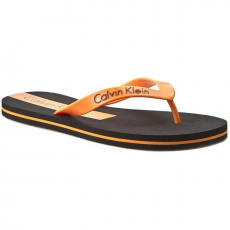 Calvin Klein Black Label Vietnámi papucsok CALVIN KLEIN BLACK LABEL - Logo Tape Flip Flop K9MK034041 Black/Autumn Glory CL5