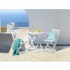 Beliani Fa kerti bútor szett - terasz bútor - akác - kerti asztal - 2 szék - fehér - FIJI