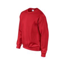 GILDAN környakas unisex pulóver, piros