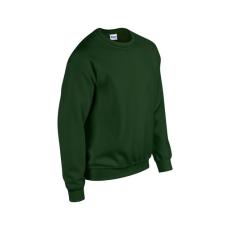 GILDAN környakas unisex pulóver, forest green