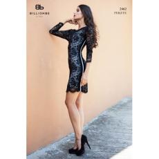 BILLIONBE by bebe 2462 Fekete csipke ruha bebe/2be