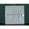 Négyszögletes szellőzőrács csőcsonkkal fehér 150x150 átm 100