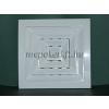 Négyszögletes szellőzőrács csőcsonkkal fehér 190x190 átm 150