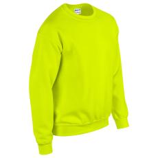 GILDAN kereknyakú pulóver, safety green